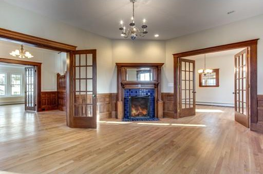Fireplaces and french doors