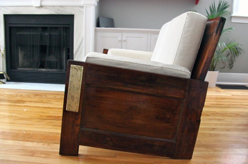 couch made from doors