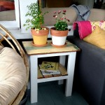 DIY end table from reclaimed wood