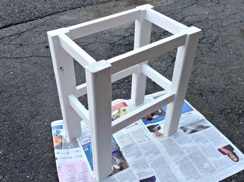 frame of DIY end table