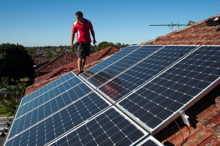 rooftop solar panels - photo by edmund tse