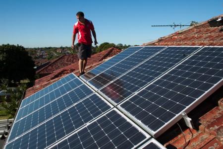rooftop solar panels - photo by edmund tse