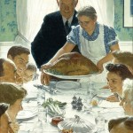 Norman Rockwell's Freedom From Want via Denver Library
