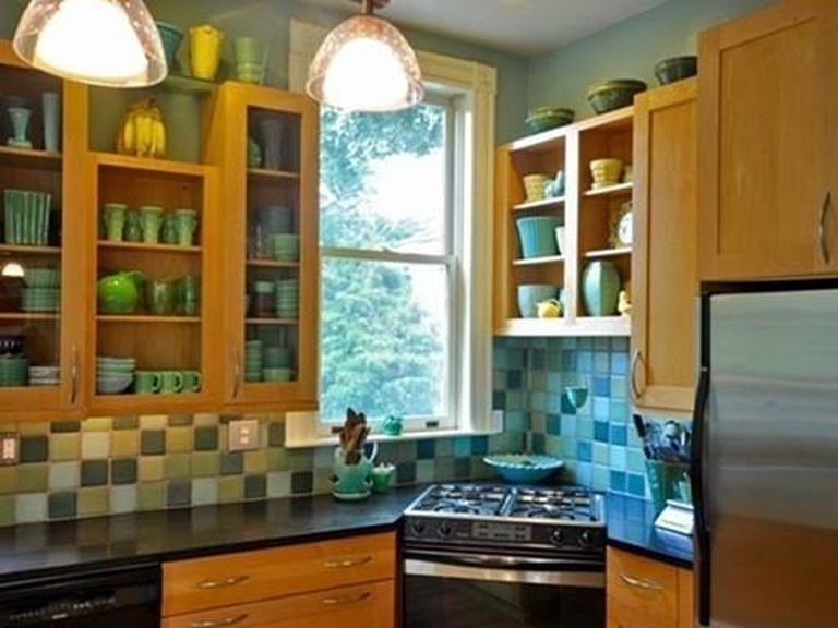remodeled kitchen open shelving