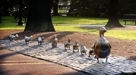 make way for ducklings statue on boston common - spring real estate guide home buying timeline