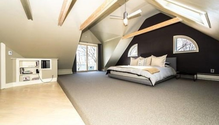 loft bedroom in attic