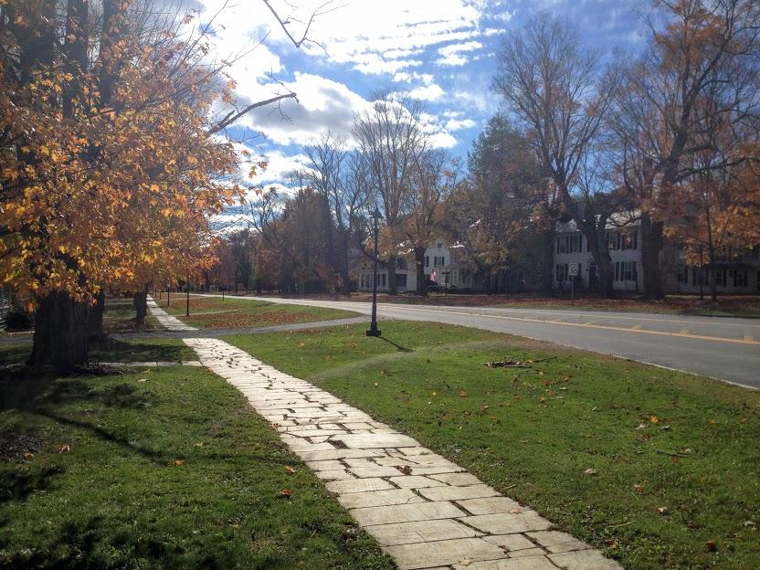 manchester village vermont marble sidewalks