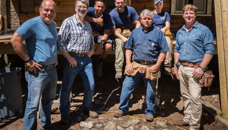 this old house cast crew including tom silva and kevin o'connor at right