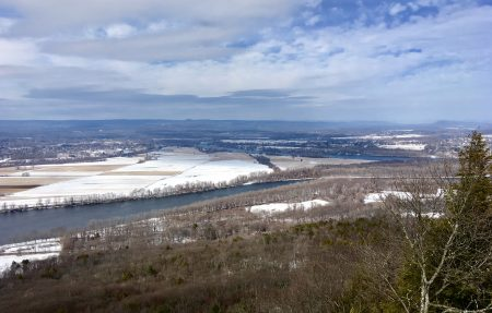 view from the summit of Mount Holyoke in Western Massachusetts