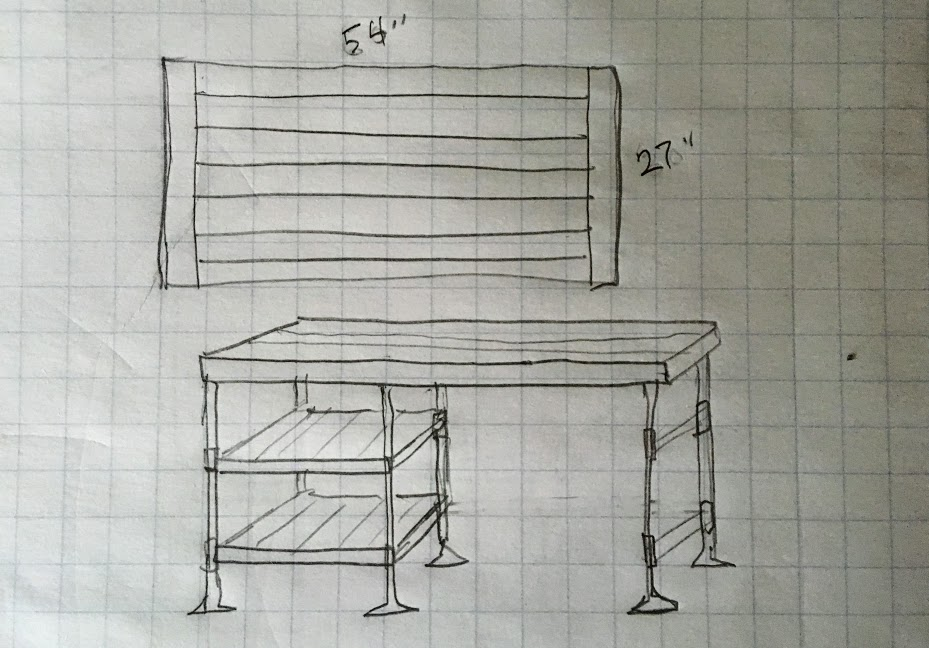 diy desk plan sketch