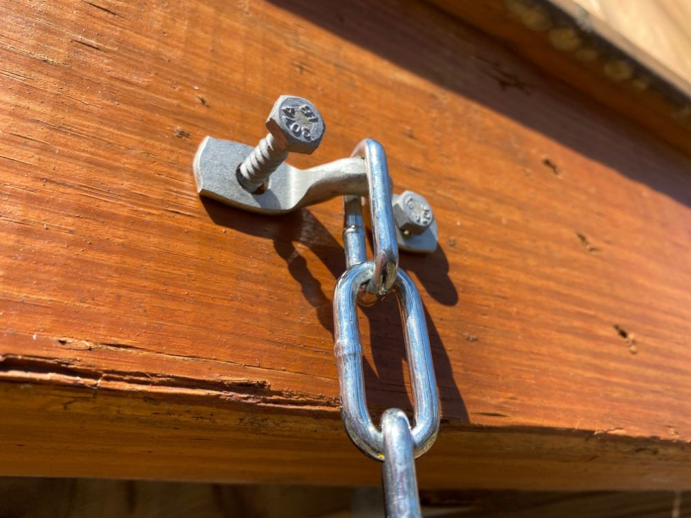 bolt hardware for backyard monkey bars